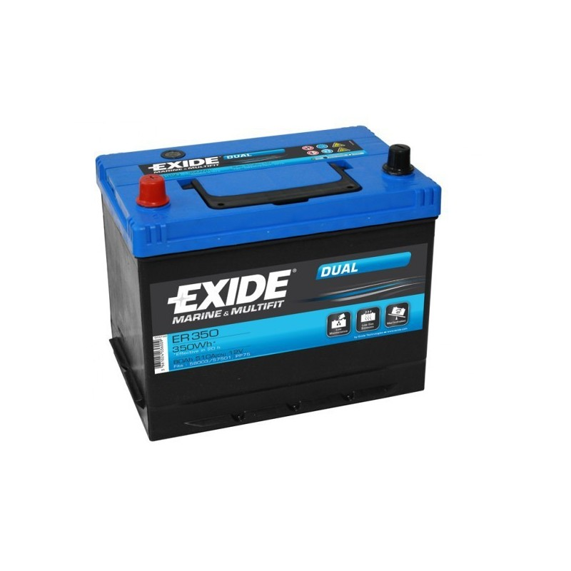 batterie exide er350 marine 12v 80ah batterie discount. Black Bedroom Furniture Sets. Home Design Ideas